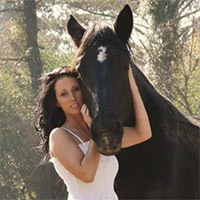 Candace Lee with Iron Gait Percherons