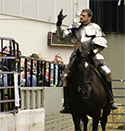 John Stikes with Iron Gait Percherons